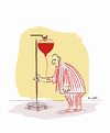 Cartoon: THE DISEASE OF LOVE !.. (small) by ismail dogan tagged love