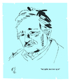 Cartoon: musfik kenter (small) by emre yilmaz tagged musfik,kenter,sanatci,artist,tiyarto,theater
