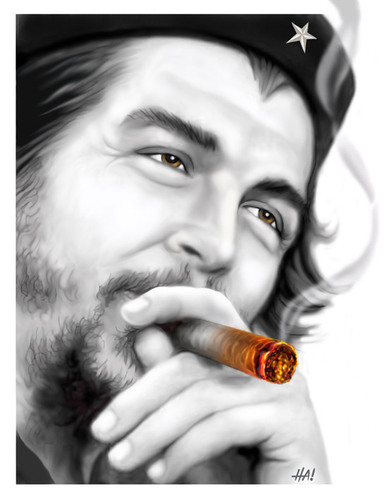 Cartoon: che guevara (medium) by Halil I YILDIRIM tagged che,guevara