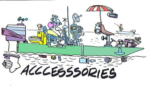 Cartoon: boating (medium) by barbeefish tagged boating,accessories,