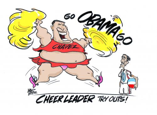 Cartoon: CHAVEZ (medium) by barbeefish tagged obama