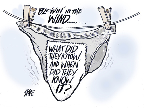 Cartoon: dirty laundry (medium) by barbeefish tagged white,house