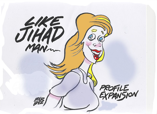 Cartoon: expando (medium) by barbeefish tagged jihad