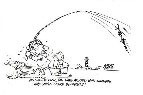 Cartoon: fishing (medium) by barbeefish tagged with,grampa,