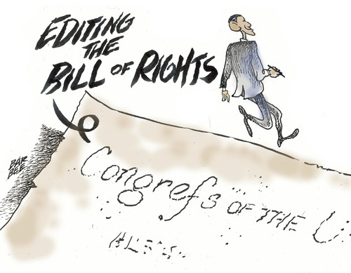 Cartoon: founding (medium) by barbeefish tagged obama