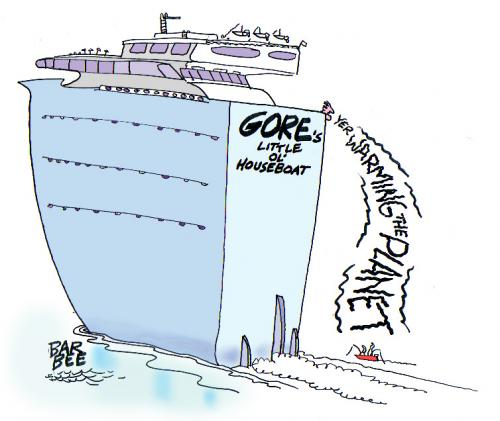 Cartoon: hundred footer (medium) by barbeefish tagged algore
