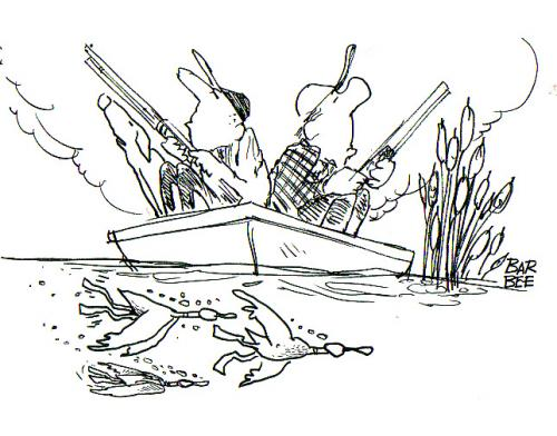 Hunting by barbeefish sports cartoon toonpool for Duck hunting coloring pages