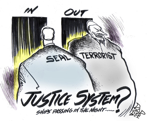 Cartoon: JUSTICE (medium) by barbeefish tagged navyseal