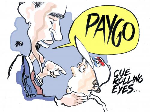 Cartoon: PAY AS YOU GO (medium) by barbeefish tagged obama