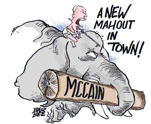 Cartoon: political (medium) by barbeefish tagged mccain,