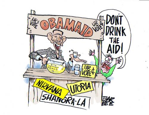 Cartoon: political (medium) by barbeefish tagged obama,