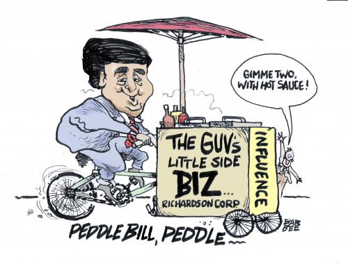 Cartoon: sales on the side (medium) by barbeefish tagged bill,richardson