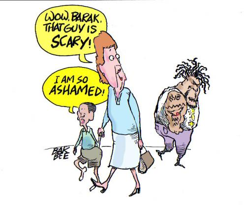 Cartoon: scary (medium) by barbeefish tagged fear,