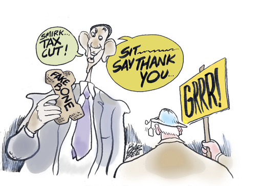 Cartoon: scolding (medium) by barbeefish tagged obama