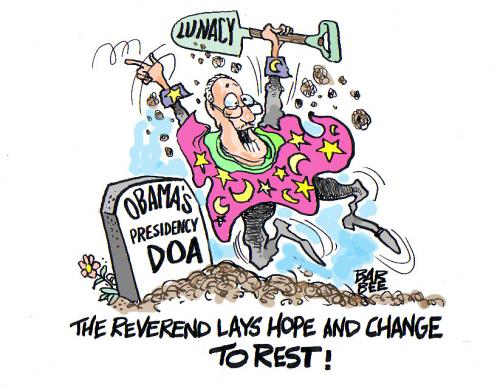 Cartoon: the reverend (medium) by barbeefish tagged poor,barak,