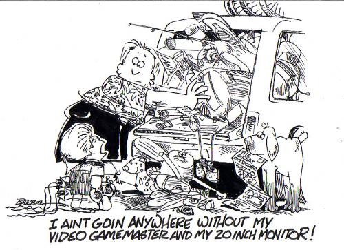 Cartoon: vacation (medium) by barbeefish tagged packing,