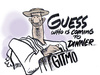 Cartoon: guests arrive (small) by barbeefish tagged terrorists