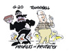 Cartoon: PROTESTS (small) by barbeefish tagged g20