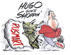 Cartoon: shopping with HUGO (small) by barbeefish tagged guns,tanks