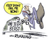 Cartoon: the heat is on (small) by barbeefish tagged obama