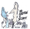 Cartoon: up close (small) by barbeefish tagged security