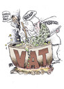 Cartoon: value added tax (small) by barbeefish tagged obama