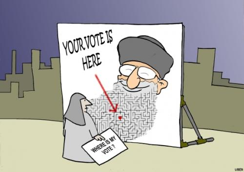 Cartoon Iranian Elections Medium By Uber Tagged Iranvoteelections