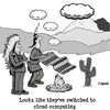 Cartoon: Cloud Computing (small) by cartoonsbyspud tagged cartoon,spud,hr,recruitment,office,life,outsourced,marketing,it,finance,business,paul,taylor
