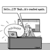 Cartoon: It crashed again (small) by cartoonsbyspud tagged cartoon,spud,hr,recruitment,office,life,outsourced,marketing,it,finance,business,paul,taylor