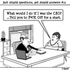 Cartoon: What would you say? (small) by cartoonsbyspud tagged cartoon,spud,hr,recruitment,office,life,outsourced,marketing,it,finance,business,paul,taylor