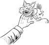 Cartoon: Biting the hand that feeds you (small) by ian david marsden tagged dog,doggie,bite,biting,hand,smile,cute,tail,wagging,hund,huendchen,suess,beissen,laecheln,treu,schwanz,wedeln,cartoon,illustration,marsden