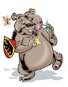 Cartoon: Der Berner Baer (small) by ian david marsden tagged bern,berne,schweiz,swiss,suisse,bear,baer,cartoon,marsden