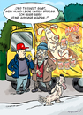 Cartoon: Der Tierarzt meint... (small) by ian david marsden tagged hund,hundefutter,trucker,lastwagen,cartoon,marsden