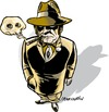 Cartoon: Gangster Mafiosi (small) by ian david marsden tagged gangster,mafia,noir,detective,cigar,skull,cartoon,illustration