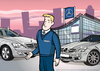 Cartoon: Illustration for Mercedes-Benz (small) by ian david marsden tagged corporate,company,mercedes,benz,illustration,firma,business,illustrator,professional