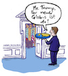 Cartoon: Trumps neuer Globus (small) by habild tagged trump,welt,oval,office,erdscheibe