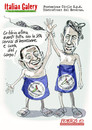 Cartoon: Berlusconi  Bertolaso (small) by portos tagged berlusconi,bertolaso,italian,sexgate