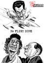 Cartoon: No Flirt Zone (small) by portos tagged sarkozy,berlusconi,gheddafi