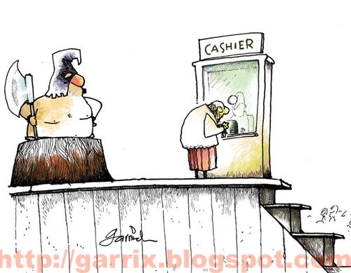 Cashier Cartoons: Cashier By Garrincha