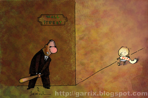 Cartoon: ooops (medium) by Garrincha tagged new,year,wall,street,crisis