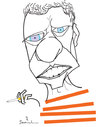 Cartoon: Chico Buarque (small) by Garrincha tagged music,personalities,caricature,brasil,chico,buarque,stars