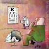 Cartoon: Eye exam (small) by Garrincha tagged eye,exam,gag,cartoon,garrincha