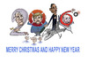 Cartoon: happy (small) by zluetic tagged merry,christmas,and,happy,new,year