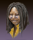 Cartoon: Whoopi Goldberg (small) by Sigrid Töpfer tagged berühmte personen