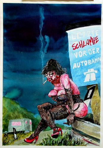 Cartoon: Autobahn (medium) by 6aus49 tagged leistner,prostituion