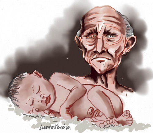 Cartoon: wrinkles (medium) by denver tagged denver,srilanka