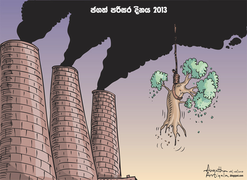 Cartoon: World Environment Day (medium) by awantha tagged world,environment,day