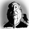 Cartoon: Alfred Hitchcock (small) by awantha tagged alfred,hitchcock