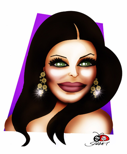 Cartoon: Aishwarya Rai (medium) by saadet demir yalcin tagged aishwaryarai,syalcin