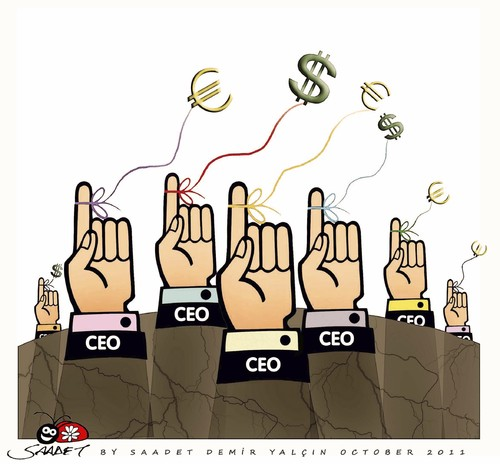 Cartoon: Ceo s of the future... (medium) by saadet demir yalcin tagged crisis,economic,sdy,saadet